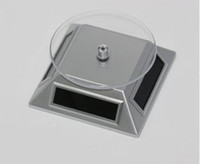 Wholesale With Retail Package Solar Powered Rotating Display Stand Turn Table Plate