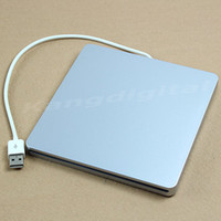 Wholesale 9 mm USB2 External Super Slim Slot in DVD RW Case For Apple Macbook Laptop