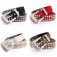 Wholesale New Women Belt Fashion Western Rhinestone Synthetic Suede Leather Bling Belt Free Shippiing