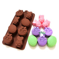 Wholesale Chocolate Candy Cake Mold Easter Silicone Rubber Baking Tray Rabbit Eggs Flower Basket Baby Clay Mould Nicole B0050