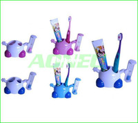 Wholesale Creative Cute Cartoon Minutes Hourglass Toothbrush Holders Stand with Sand timer Useful Household Goods
