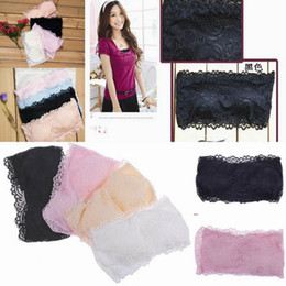 Wholesale Sexy Wrapped Chest Women s Tops Lingerie Lace Bra With Baldric Chest Pad Chest Wrap Underwear DEB