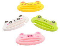 Eco-Friendly   Novelty Items Lovely Animal Bathroom Dispenser Toothpaste Squeezer 10pcs lot Free Shipping