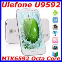 Ulefone 5.0 Android Ulefone U9592 MTK6592 Octa Core 2GB RAM 16GB ROM 1.7GHZ 5 Inch Unlocked Android 4.2 Dual SIM Quad Band I9500 S4 phone