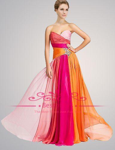 Prom Dresses Orange And Pink