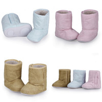 Wholesale Cute Winter Baby Warm Snow Boot Soft Child Nonslip Shoes Keep Warm Shoes Colors Choose Free Ship DJF