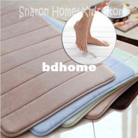 Wholesale Stocked eco friendly memory foam with microfiber surface bath mat non slip bath mat in bathroom x800MM