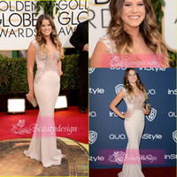 Golden Globe Awards bacon - New arrival mermaid chiffon floor length applique prom gowns st Golden Globe Sosie Bacon Evening Celebrity Red Carpet Dresses BO4217