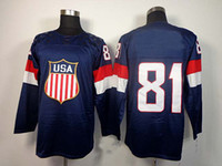 Cheap 2014 Olympics Team USA Jerseys Ice Hockey Jerseys Men`s Phil Kessel #81 Blue Hockey Jerseys Mix Order