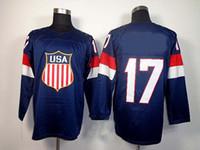 Cheap 2014 Olympics Team USA Jerseys Ice Hockey Jerseys Men`s Ryan Kesler 17# Blue Hockey Jerseys Mix Order