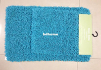 absolute set - Set of Microfiber Chenille Bath Mat Step onto absolute luxury Superabsorbent rug anti slip mat
