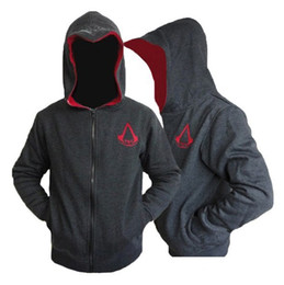 Wholesale New Personalized Fashion Cosplay Costume Hoodies Sweatshirts Men s Assassins Creed Hoodies Colors M L XL XXL SIZE