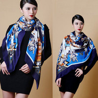 Wholesale Newest Women s Retro pattern Cotton Scarf Wrap Ladies Shawl Girls Large Square Scarves Fashion Accessory