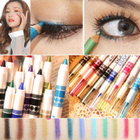 cosmetic glitter - 12Pcs HOT Glitter Lip Liner Eye Shadow Eyeliner Pencil Pen Cosmetic Makeup Set Brand New