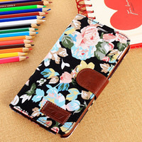 New Arrival China Style Floral Cloth Leather Case Card Holde...