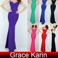GK Sexy Backless Criss Cross Evening Gown Long Beaded Straps...