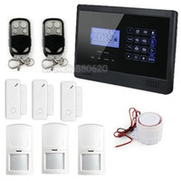 Wholesale DIY Touch Keypad Wireless Home GSM SMS TEXT Alert Security Burglar Alarm System Door Motion Sensor