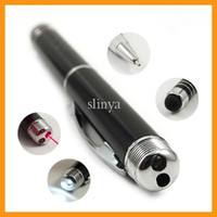 Wholesale Multifunction in Cell Phone Stylus Pen with Ball Pen Laser Pen Mini LED Flashlight in Touch Screen Stylus Pen