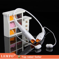 Wholesale Wireless Stereo Bluetooth Headphone Headset Neckband Style Earphone HV for iPhone Nokia HTC Samsung LG Cellphones