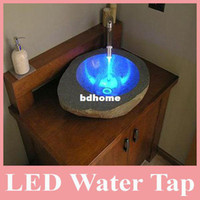 Wholesale Hot Sell Colors Free Changing Over Time LED Water Tap Temperature for Kitchen Bathroom LED Taps for Bathroom
