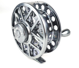 Wholesale ZF series Aminum Die casting Fly Fishing reels Gun color fishing tackles high qulity right left hand BB RB