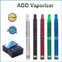 Wholesale AGO G5 Herb Vaporizer starter kit LCD Puff Counts Portable Pen Style Dry Herb Cartomizer Clearomizer with battery Charger for AGO e cig kit