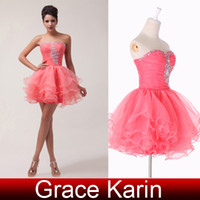 Mini Short Charming Ball Gown Sweetheat Beaded Voile Sexy Co...