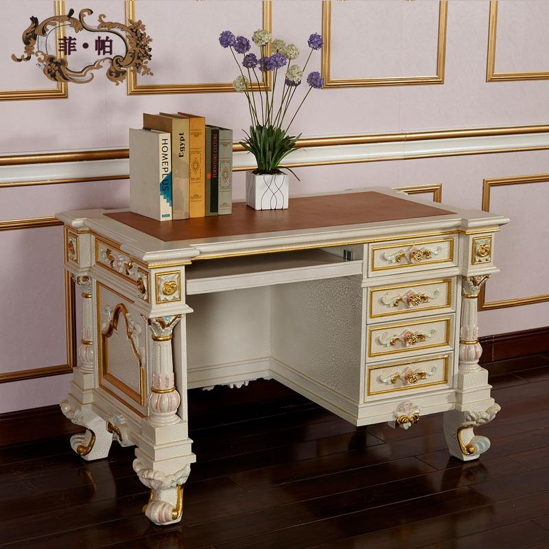 2017 Classic Home Office Furniture Baroque Leaf Gilding