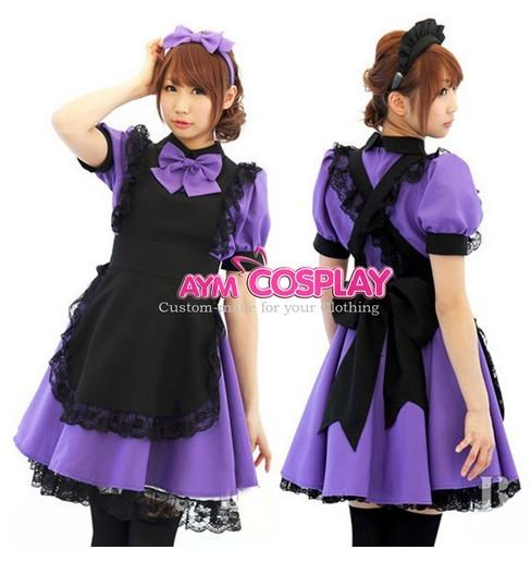 Hot Sell Sissy Maid Lockable Dress Uniform Cosplay Costume Purple Halloween  Party Event Coser Cosplayer Maid Dress Cosplay Cosplay Costumes Pirates  Costume ... - Hot Sell Sissy Maid Lockable Dress Uniform Cosplay Costume Purple