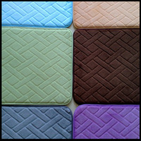 Wholesale X60cm fabric slow rebound absorbent mats doormat mat cheap ultra soft memory foam bath mats