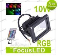 Wholesale LLFA341 RGB LED Flood Light W LM Waterproof landscape lighting Romote Control AC V