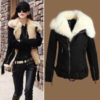 Cheap Hot Selling Women's New Warm Lush Outerwear Jacket Parka Fur Winter Coat Black Z377 salebags