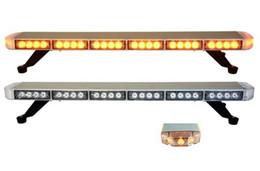 Luces del coche rojo en venta-Envío libre ESL3528 bajo perfil GEN III 1 vatio brillante estupendo LED que advierte Lightbar, coche lleno llevado barra ligera (ambarino / azul / rojo / blanco)