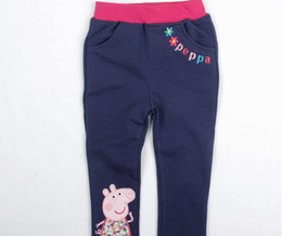 Wholesale New Arrival Fashion Brabd Cartoon Peppa Pig Leggings Baby Girls Leggings amp Kids Tights Size m y
