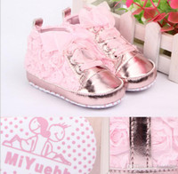 Wholesale New Rose Spring baby shoes baby toddler shoes soft soled baby shoes