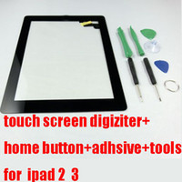 Wholesale Good Quality For ipad Touch Screen Digiziter Replacement with Home Button and M Adhsive