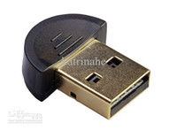 Wholesale DHL Mini Bluetooth Wireless Adapter USB dongle HS Compliant for PC Laptop Vista Windows