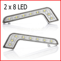 Cheap 8LED Daytime Running Light DRL Driving Front Lamp Super White 12V Waterproof,Wholesale led driving light auto car FREE SHIPPING