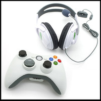 Wholesale 1PC wireless controller game pad joystick and PC Wired Headset with microphone Headset Earphone For Xbox