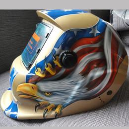 Wholesale Eagle skeleton Solar Auto Darkening Welding Helmet Mask Welder Cap Welder Goggles Welding Tool UV IR protection
