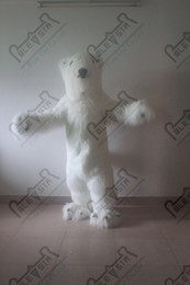 POLE STAR MASCOT COSTUME 2014 hot sale long fur polar bear mascot costume polar bear costumes for activity cartoon animal disguise