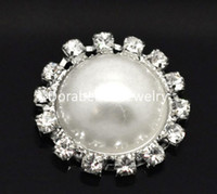 Wholesale Rhinestone Acrylic Pearl Embellishments Jewelry Making Findings mm quot B18399