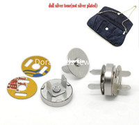 Wholesale Sets Silver Tone Magnetic Purse Snap Clasps Closure for Purse Handbag mm quot Dia B20766