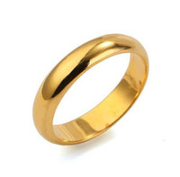 Cluster Rings Engagement Cluster Rings Wholesale - Free Shipping!!! Quality Men's and Women's 24K Real Gold Plated Fashion Ring, Size 7 8 9 10, Come With A Ring Box! (0361)