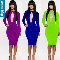 Cheap 5 color Plus Size New European Fashion Women Sexy Knee Length Black Bodycon Bandage Dress Celebrity Casual Dress PLM 4020