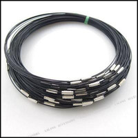 Wholesale Black Memory Wire Necklace Choker With Screw Clasp