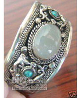 Wholesale Tibet silver turquoise Moonstones Cuff Bracelet