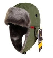 Unisex bomber hat - SANTO M65 Men Women Winter Warm Waterproof Ultra light Bomber Hats Blue Black Red Army Green Dark Green Free Size CM