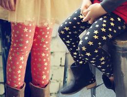 Wholesale 2014 New Spring Children Girls Shinning Stars Printed Fashion Slim Tights Kids Pants Girl Leggings Trousers B2703
