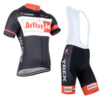 Wholesale 2014 Trek Cycle Clothing Sets Mens Short Sleeve Bicycle Jersey With Cycling Bib Short Trek Cycling Clothing Black